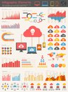 Cloud service infographic elements opportunity to highlight any country vector illustration eps Royalty Free Stock Images