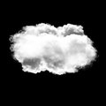 Cloud shape isolated over black background Royalty Free Stock Photo