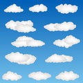 Cloud shapes Royalty Free Stock Photography
