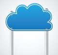 Cloud sign Royalty Free Stock Photo