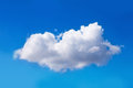 Cloud single in the blue sky Royalty Free Stock Photography