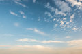 Cloud in the sky in evening Royalty Free Stock Photo