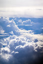 Cloud and sky view from a airplane Stock Image