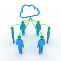 Cloud social network Stock Photos