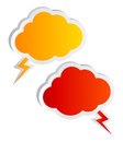 Cloud speech bubbles Stock Photos