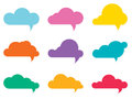 Cloud speech bubbles Royalty Free Stock Image