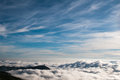 In cloud stopa on top mountian Royalty Free Stock Photos
