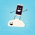 Cloud storage. Royalty Free Stock Images