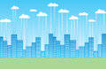 Cloud Storage City Royalty Free Stock Photo