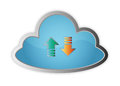 Cloud storage internet wireless server Royalty Free Stock Photos