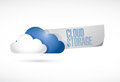 Cloud storage sign illustration design over a white background Royalty Free Stock Photo
