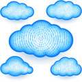 Cloud computing Storage Virtual Digital Binary Information Grid Data Set Royalty Free Stock Photo