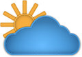Cloud and sun made of leather vector illustration Royalty Free Stock Photography