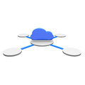 Cloud symbol on a disc Royalty Free Stock Image