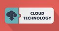 Cloud Technology Concept in Flat Design. Stock Images