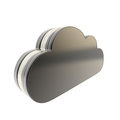 Cloud technology disk space emblem icon Royalty Free Stock Photo