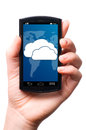 Cloud touch screen phone Royalty Free Stock Photos