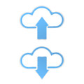 Cloud upload download graphic vector eps Stock Photography