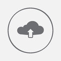 Cloud upload icon vector, solid illustration, pictogram isolated on gray.