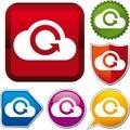 Cloud uploading icon Royalty Free Stock Photo