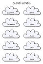 Cloud Words Stock Photography