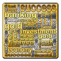 Cloud of words describing the finance and banking Stock Images