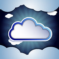 Cloud for your text Royalty Free Stock Photography