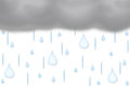 Cloudburst thundercloud and many raindrops illustration of rainy weather Royalty Free Stock Photo