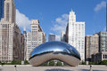 Cloude gate chicago cloud deserted british artist anish kapoor millennium park Royalty Free Stock Photos