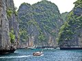 Clouded bay in paradise krabi province thailand Stock Photography