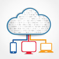 Clouding devices all the share information from cloud Royalty Free Stock Photography