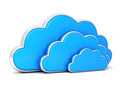 Clouds in 3d on white Royalty Free Stock Photo