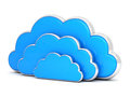 Clouds in 3d on white Royalty Free Stock Image