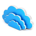Clouds in 3d on white Royalty Free Stock Images