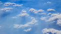 Clouds from above clounds over bass strait shot Stock Photography