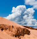 Clouds above a  desert Royalty Free Stock Photography