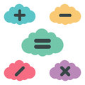 Clouds arithmetic set vector illustration Stock Images