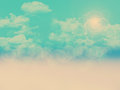 Clouds background abstract landscape with and vintage effect added Stock Images