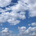 Clouds in blue sky. Royalty Free Stock Images