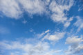 Clouds in the blue sky a Stock Photography