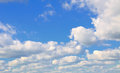 Clouds in the blue sky is covered by white Royalty Free Stock Photo