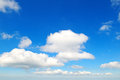 Clouds in the blue sky fluffy Stock Photo