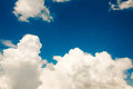 Clouds in blue sky horizontal image copy space Stock Photo
