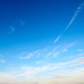 Clouds in the blue sky light Royalty Free Stock Photo