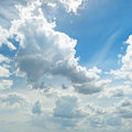 Clouds in the blue sky light Royalty Free Stock Photos