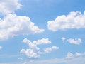 Clouds in blue sky after rainy day Royalty Free Stock Photography