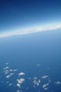 Clouds and blue sky seen from plane Royalty Free Stock Photography