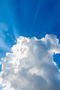 Clouds in the blue sky white Stock Photos