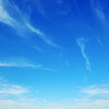 Clouds in the blue sky white fluffy Royalty Free Stock Image