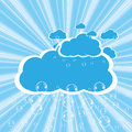 Clouds and bubbles vector Royalty Free Stock Photography